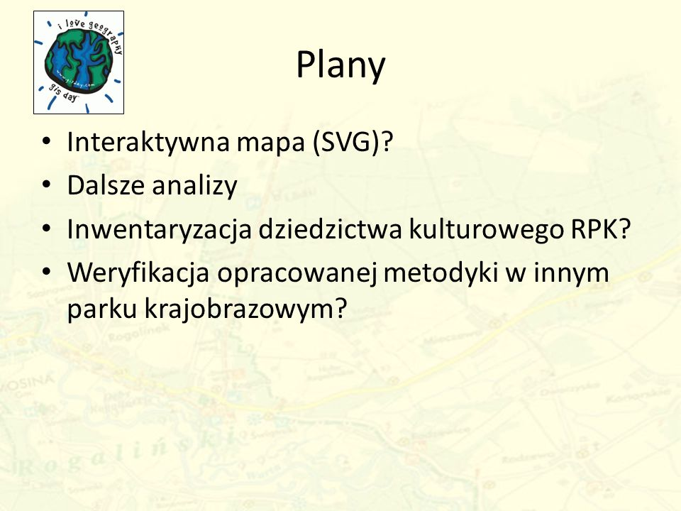 Plany Interaktywna mapa (SVG) Dalsze analizy