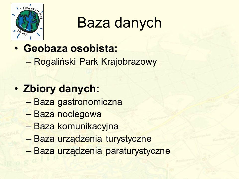 Baza danych Geobaza osobista: Zbiory danych: