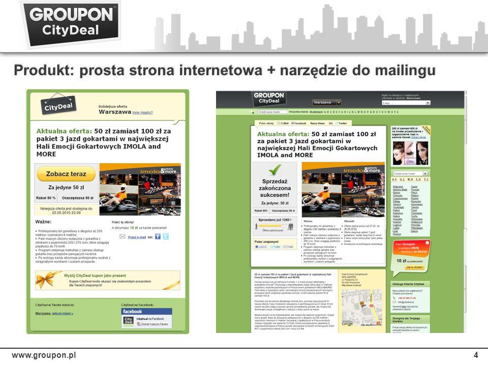 Produkt: prosta strona internetowa + narzędzie do mailingu