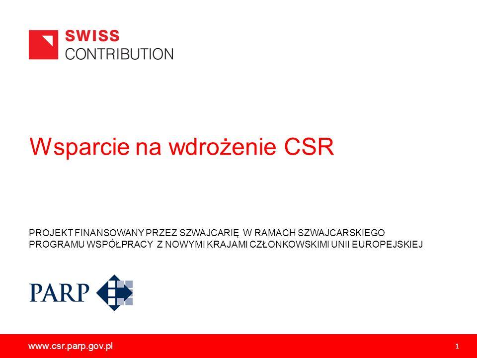Wsparcie na wdrożenie CSR