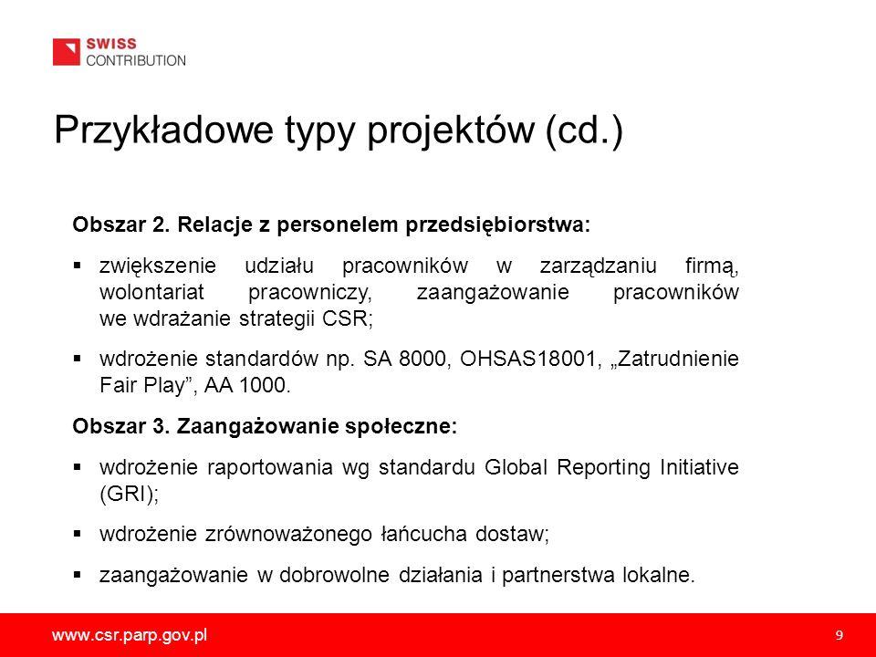 Przykładowe typy projektów (cd.)