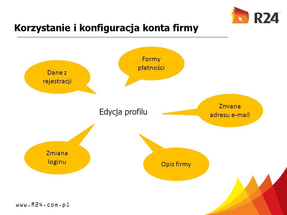 Korzystanie i konfiguracja konta firmy