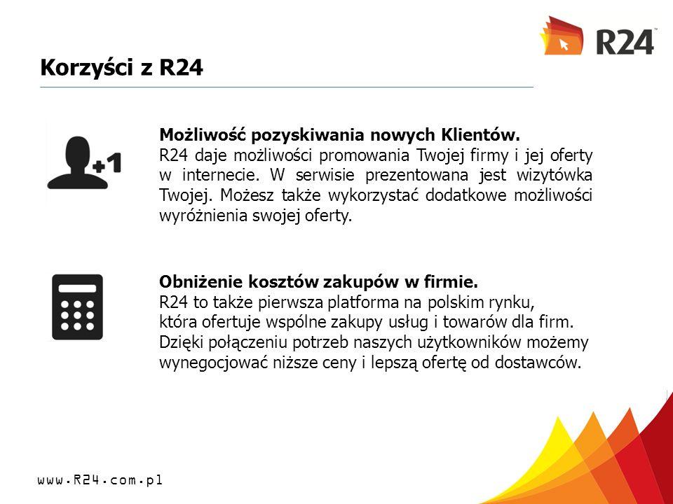 Korzyści z R24 Możliwość pozyskiwania nowych Klientów.