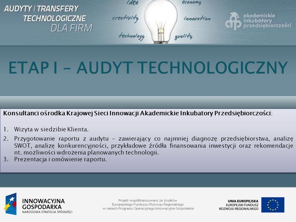ETAP I – AUDYT TECHNOLOGICZNY