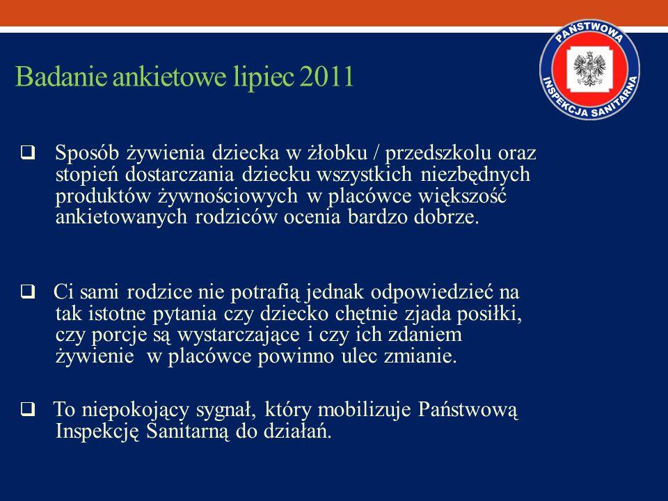 Badanie ankietowe lipiec 2011