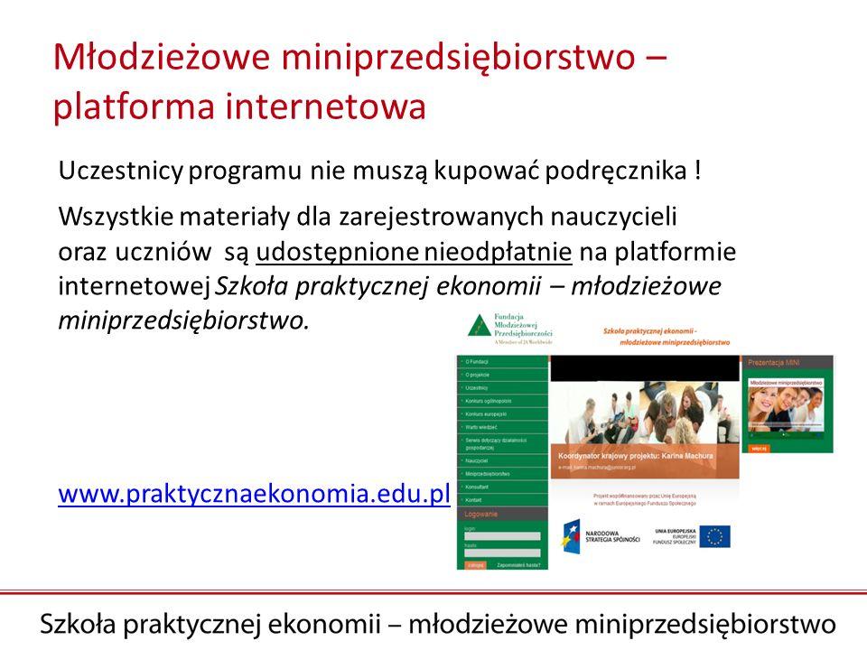 Młodzieżowe miniprzedsiębiorstwo – platforma internetowa