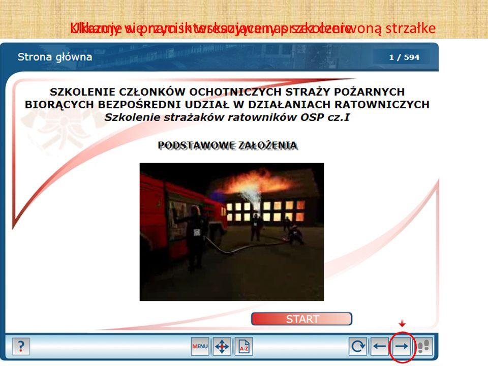 Klikamy w przycisk wskazywany przez czerwoną strzałke
