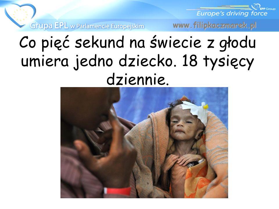 www.filipkaczmarek.pl Co pięć sekund na świecie z głodu umiera jedno dziecko. 18 tysięcy dziennie.