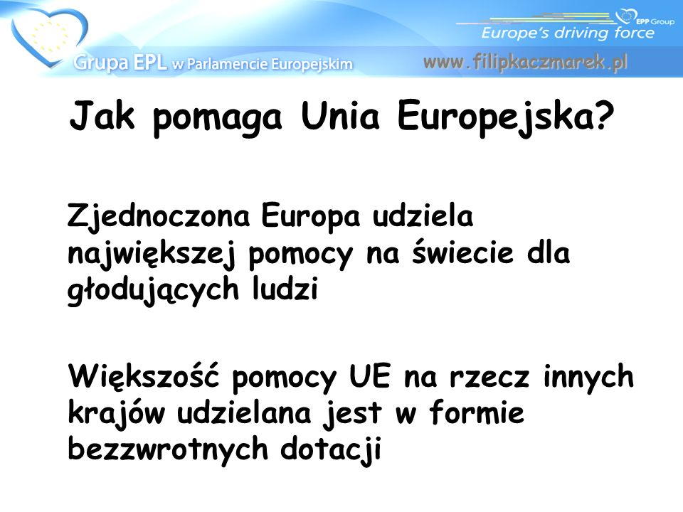 Jak pomaga Unia Europejska