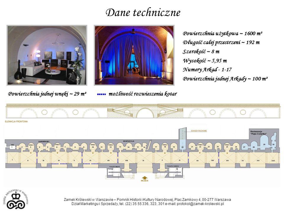Dane techniczne Powierzchnia użytkowa ~ 1600 m²