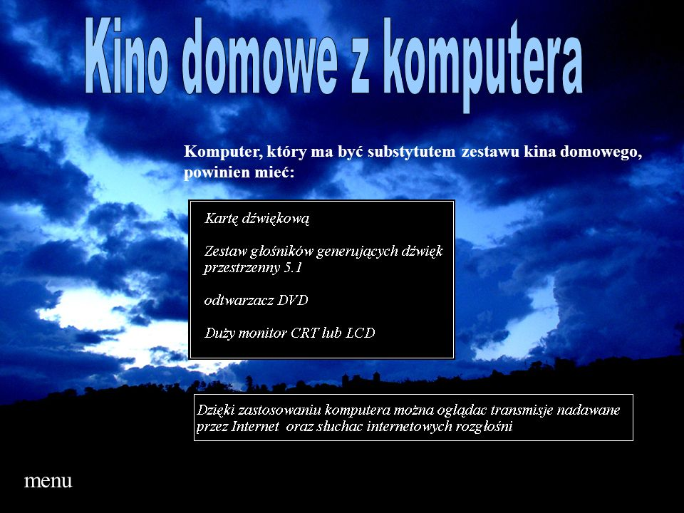 Kino domowe z komputera