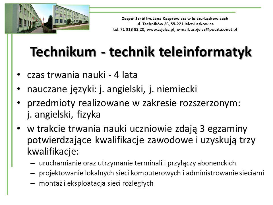 Technikum - technik teleinformatyk