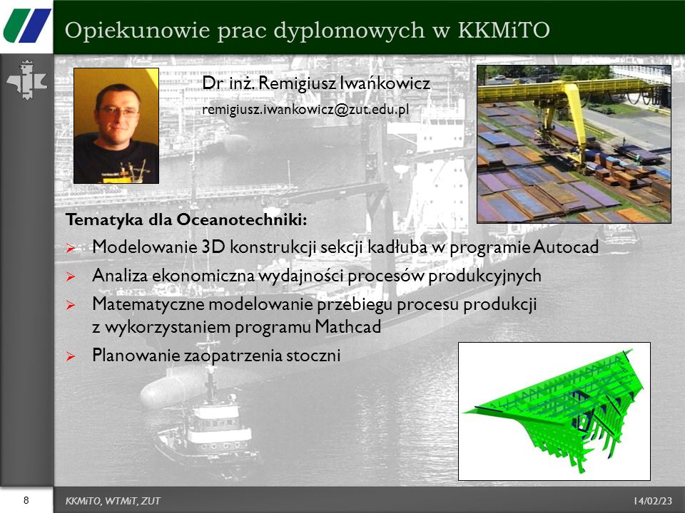 Opiekunowie prac dyplomowych w KKMiTO