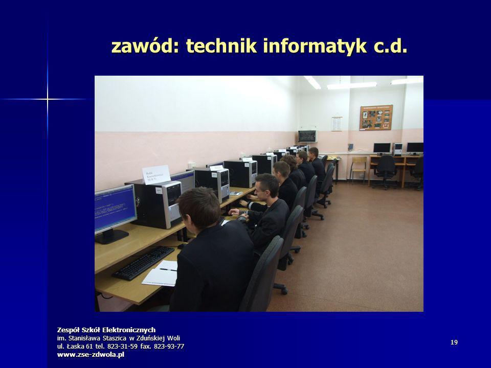 zawód: technik informatyk c.d.