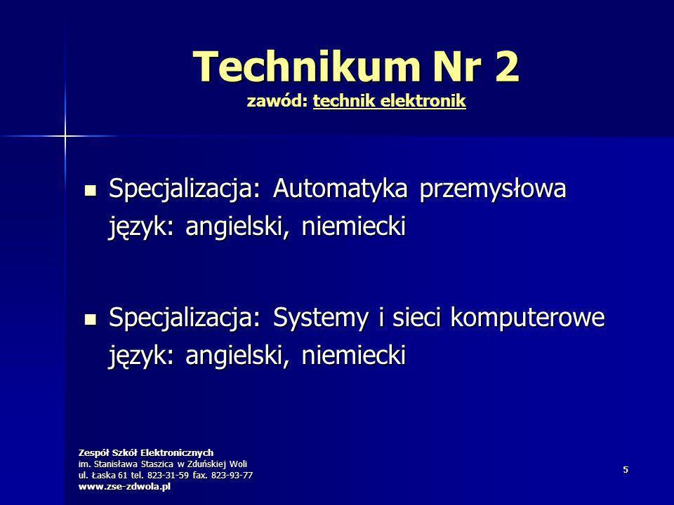 Technikum Nr 2 zawód: technik elektronik