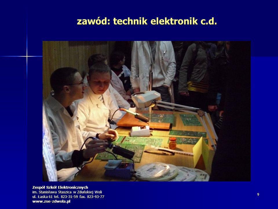 zawód: technik elektronik c.d.