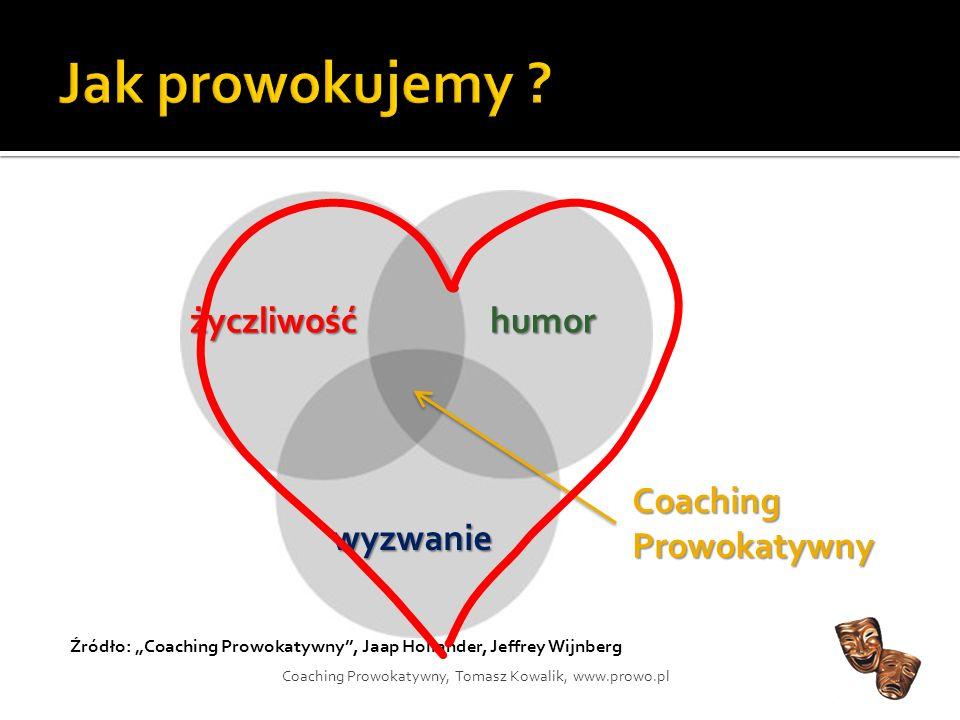Jak prowokujemy życzliwość humor Coaching Prowokatywny wyzwanie