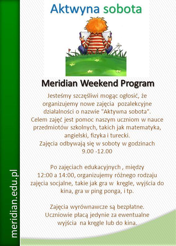 Meridian Weekend Program