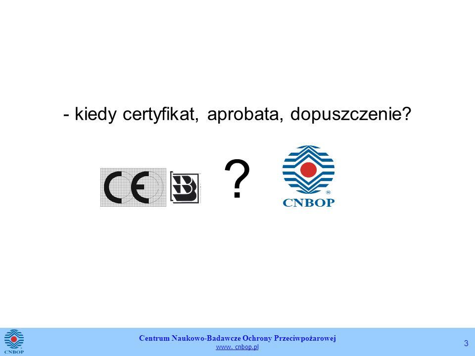 - kiedy certyfikat, aprobata, dopuszczenie