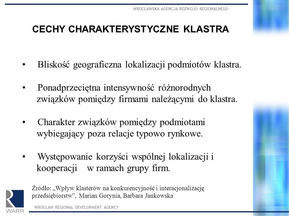 CECHY CHARAKTERYSTYCZNE KLASTRA