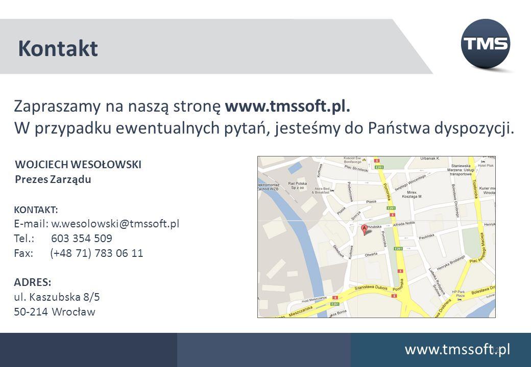 Kontakt Zapraszamy na naszą stronę www.tmssoft.pl.