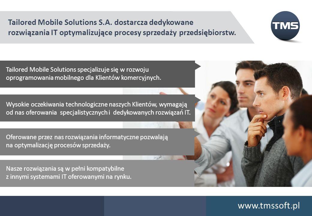 www.tmssoft.pl Tailored Mobile Solutions S.A. dostarcza dedykowane