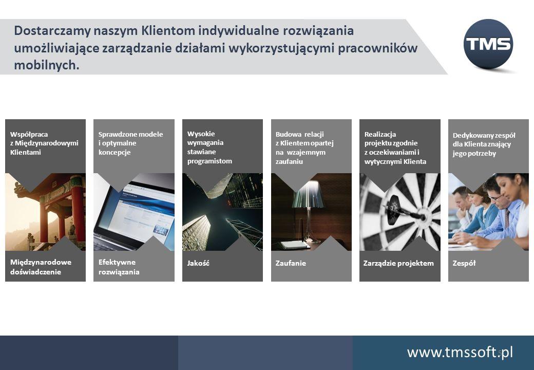 www.tmssoft.pl Dostarczamy naszym Klientom indywidualne rozwiązania