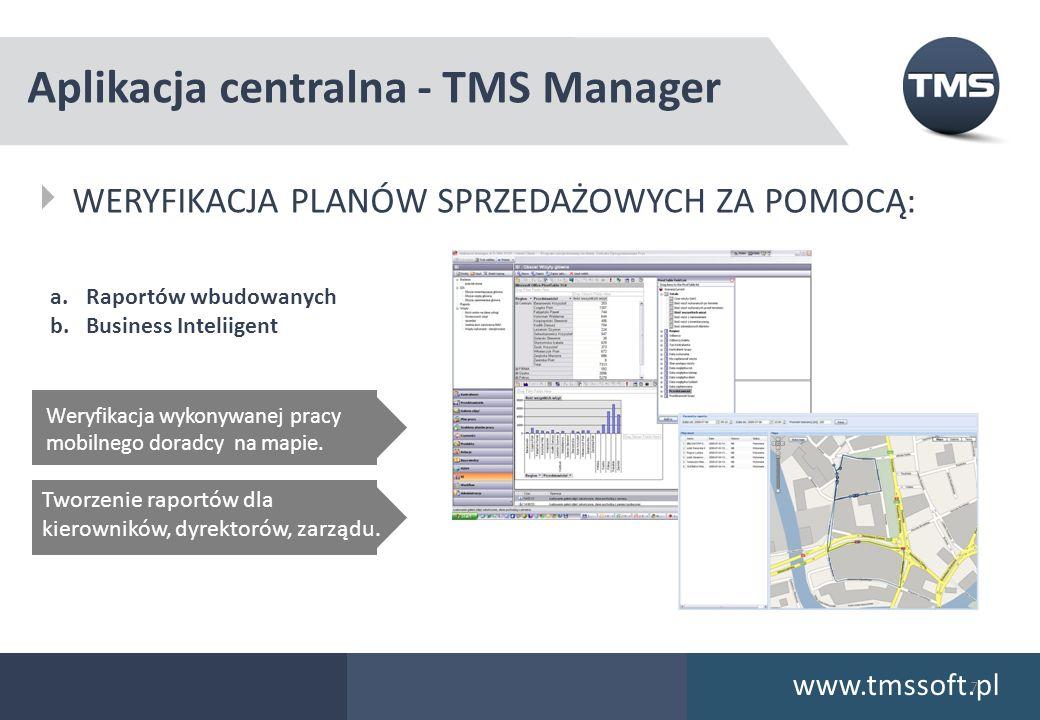 Aplikacja centralna - TMS Manager