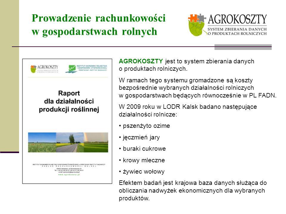 Prowadzenie rachunkowości w gospodarstwach rolnych