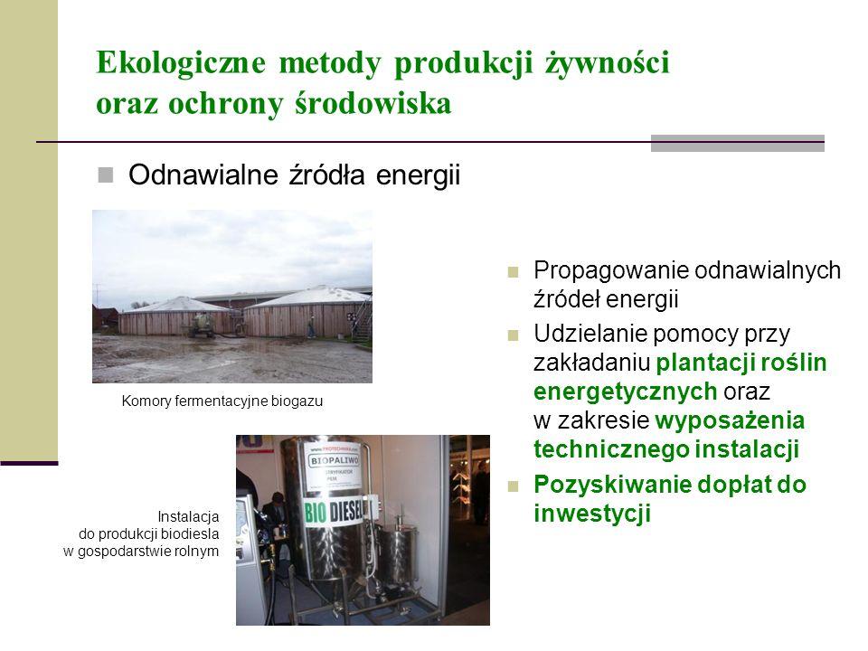 Ekologiczne metody produkcji żywności oraz ochrony środowiska