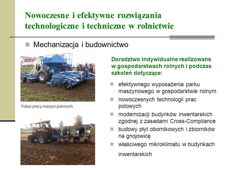 Nowoczesne i efektywne rozwiązania technologiczne i techniczne w rolnictwie
