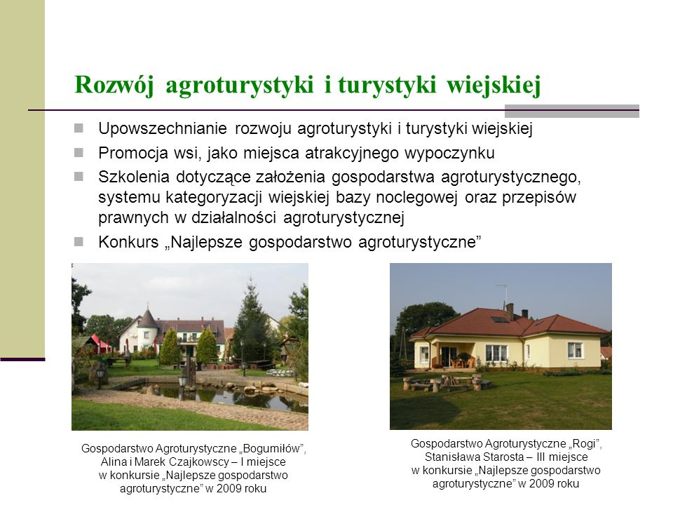 Rozwój agroturystyki i turystyki wiejskiej