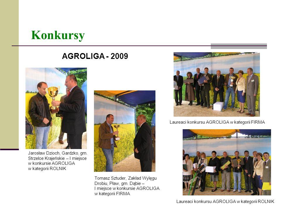 Konkursy AGROLIGA - 2009 Laureaci konkursu AGROLIGA w kategorii FIRMA