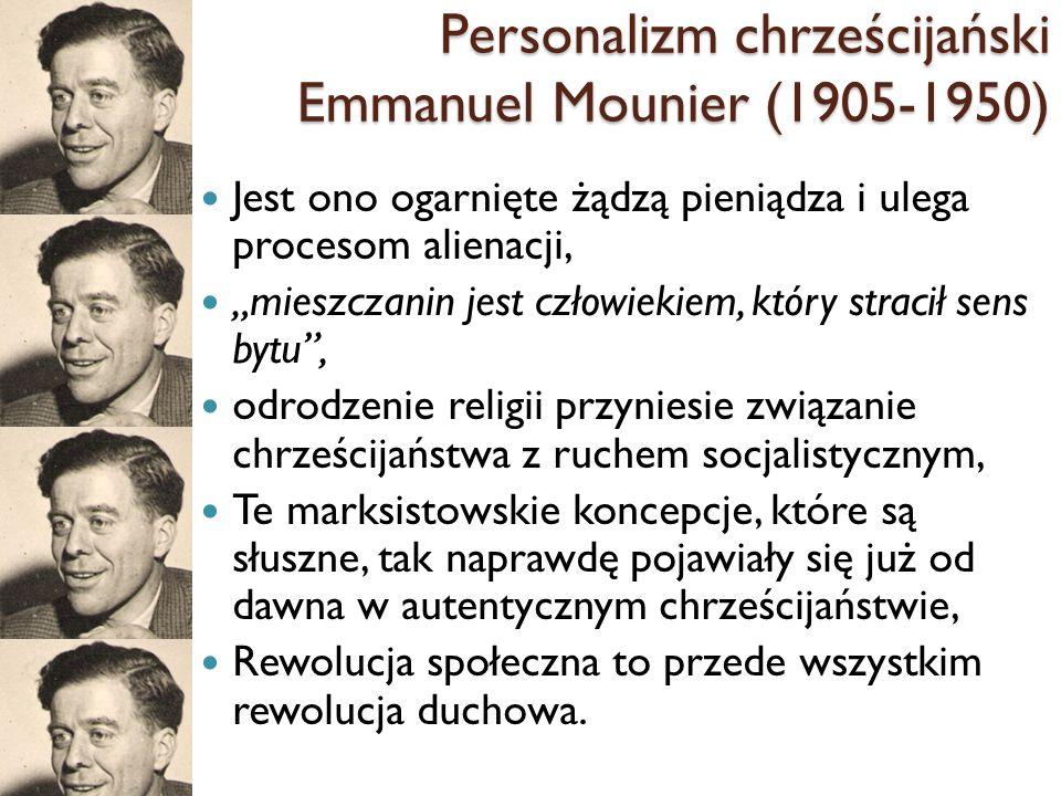 Personalizm chrześcijański Emmanuel Mounier (1905-1950)