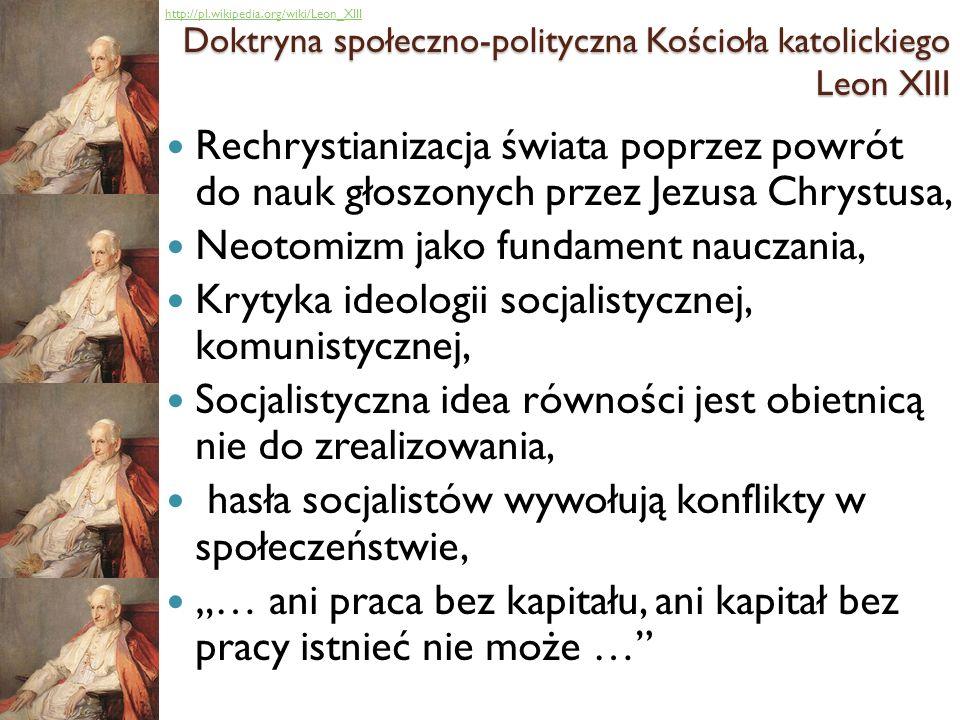 Doktryna społeczno-polityczna Kościoła katolickiego Leon XIII