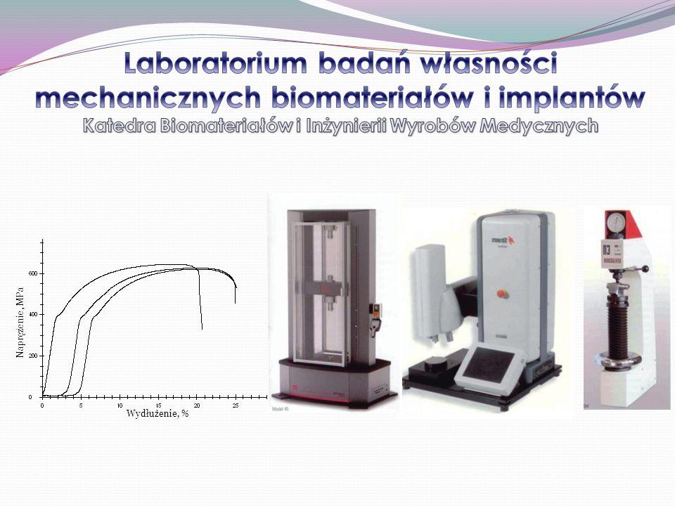 Laboratorium badań własności mechanicznych biomateriałów i implantów Katedra Biomateriałów i Inżynierii Wyrobów Medycznych