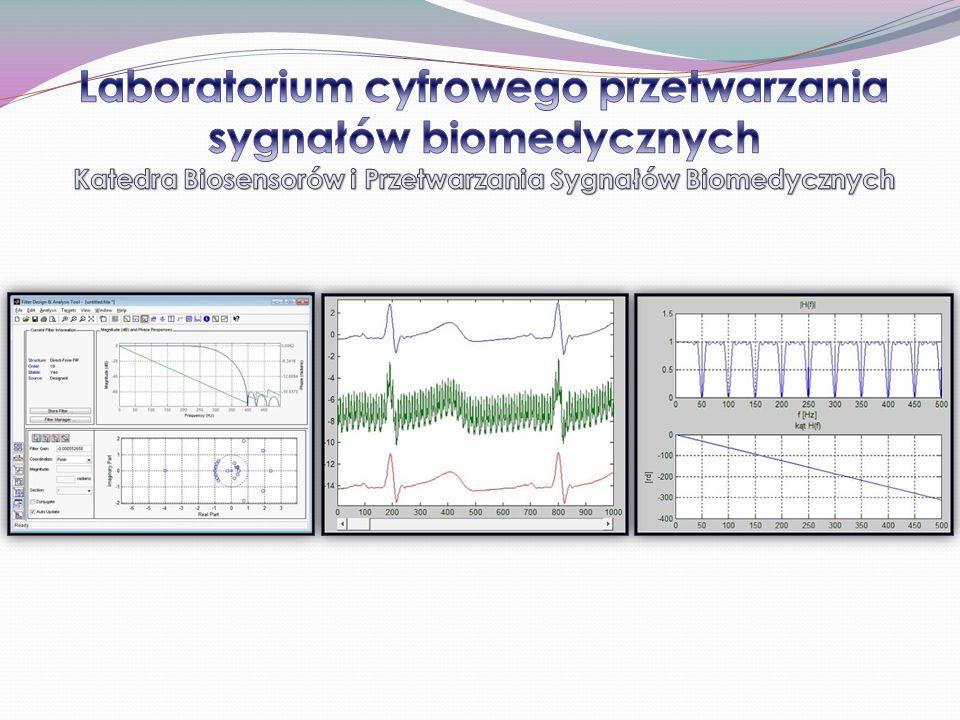 Laboratorium cyfrowego przetwarzania sygnałów biomedycznych Katedra Biosensorów i Przetwarzania Sygnałów Biomedycznych