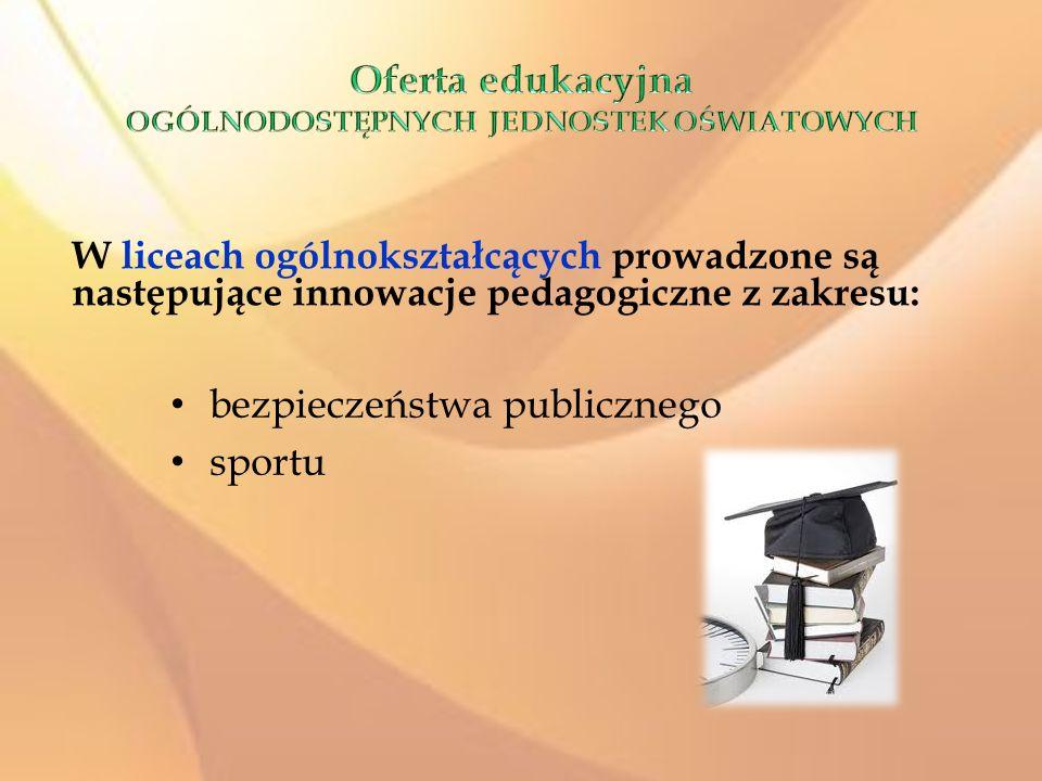 Oferta edukacyjna OGÓLNODOSTĘPNYCH JEDNOSTEK OŚWIATOWYCH