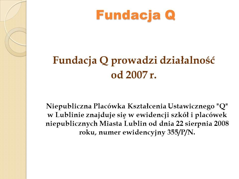 Fundacja Q prowadzi działalność