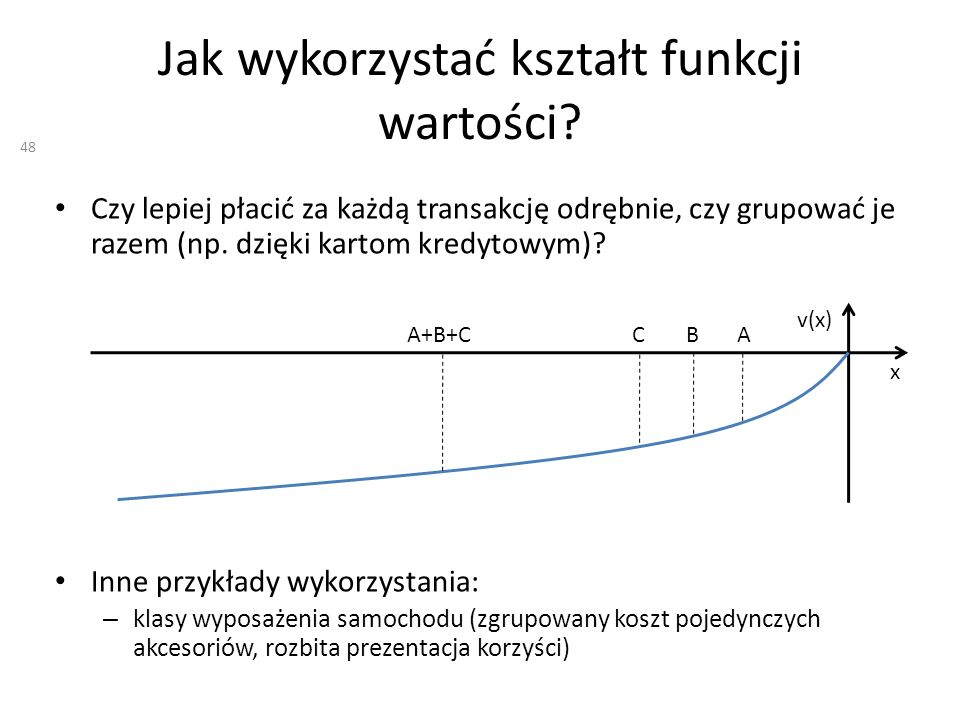 Jak wykorzystać kształt funkcji wartości