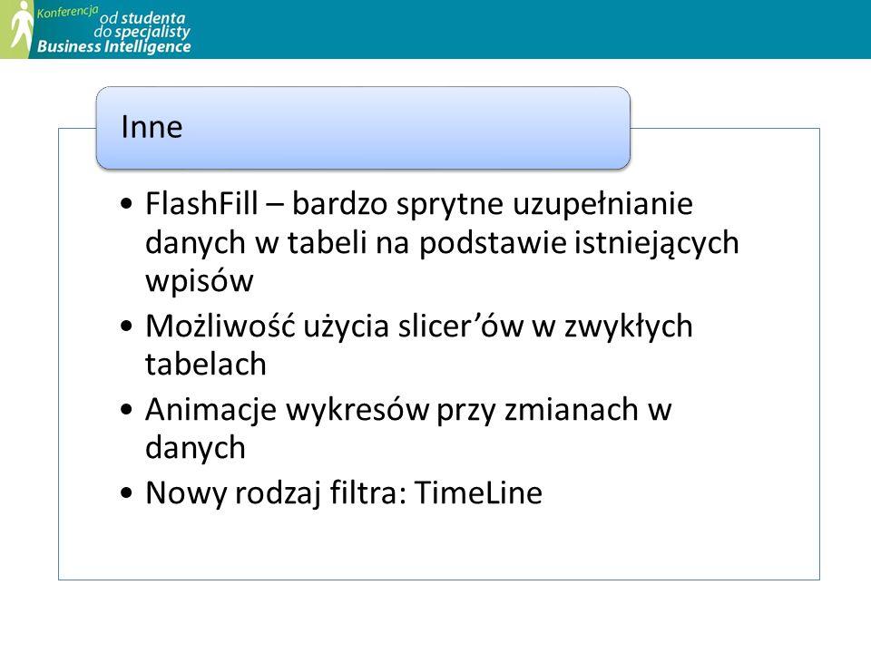 FlashFill – bardzo sprytne uzupełnianie danych w tabeli na podstawie istniejących wpisów