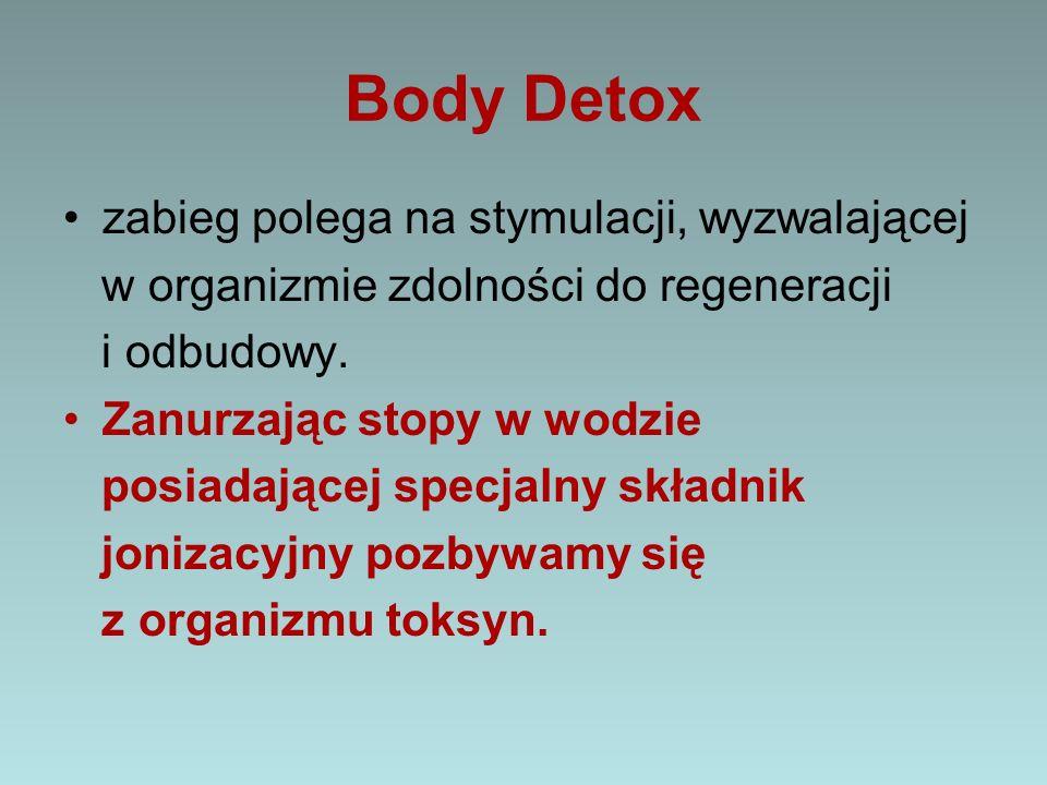 Body Detox zabieg polega na stymulacji, wyzwalającej