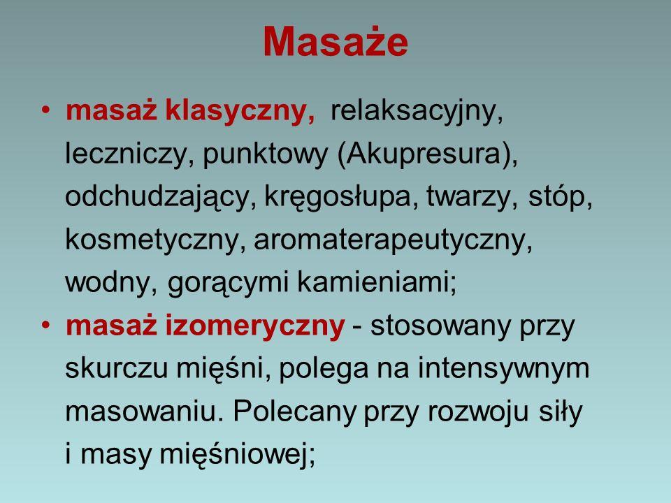 Masaże masaż klasyczny, relaksacyjny,