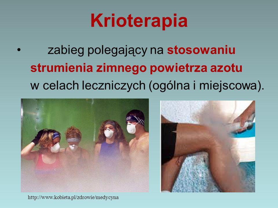 Krioterapia zabieg polegający na stosowaniu