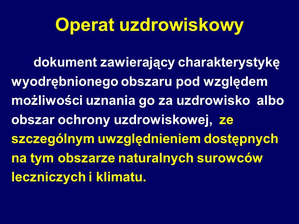 Operat uzdrowiskowy dokument zawierający charakterystykę