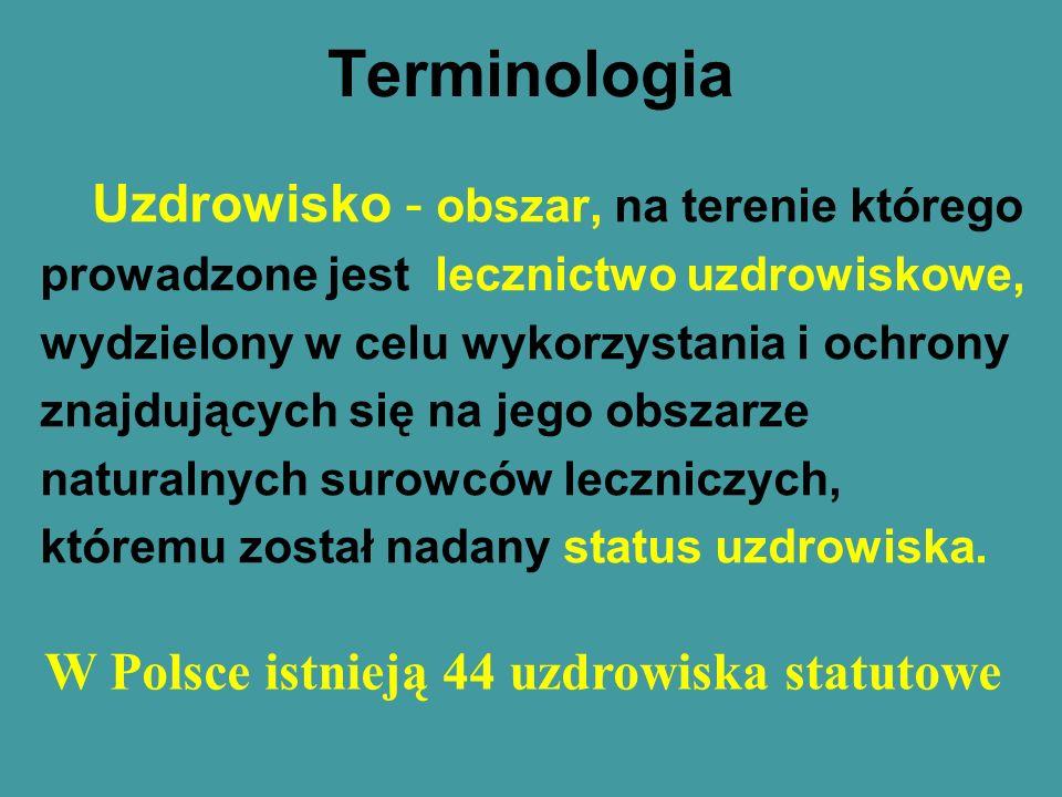 W Polsce istnieją 44 uzdrowiska statutowe