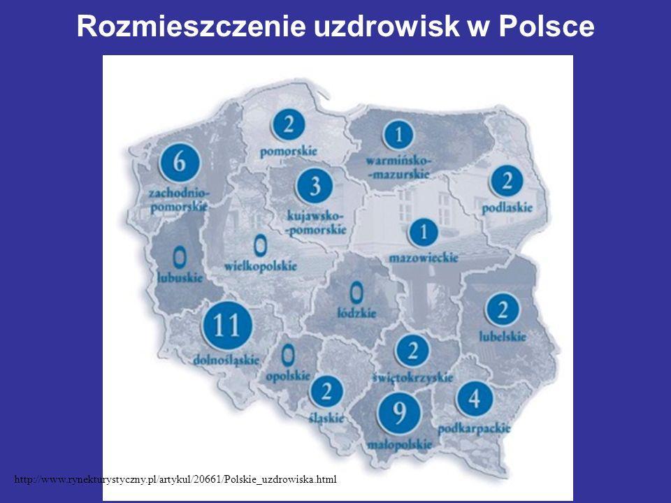 Rozmieszczenie uzdrowisk w Polsce