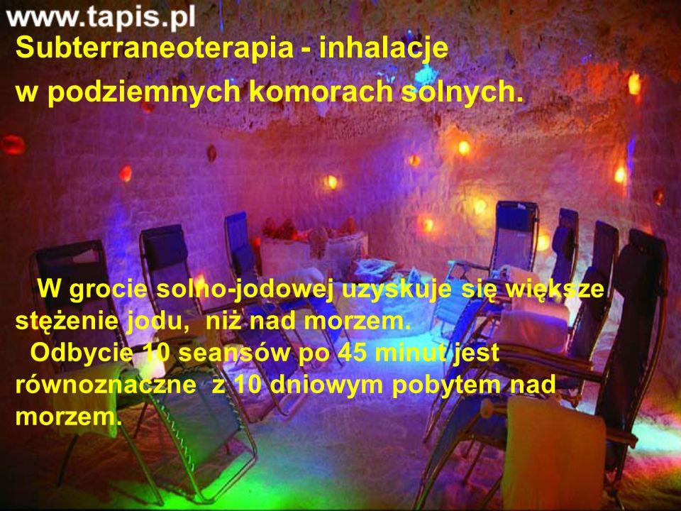 Subterraneoterapia - inhalacje w podziemnych komorach solnych.
