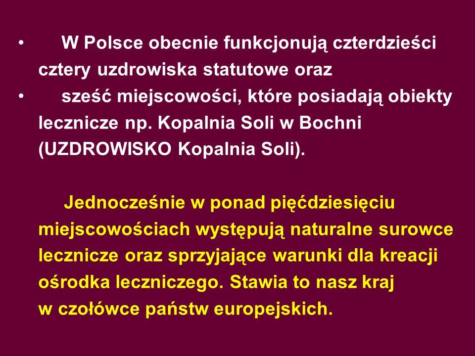 W Polsce obecnie funkcjonują czterdzieści