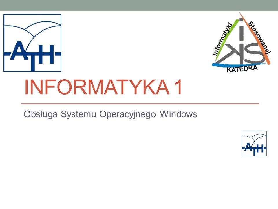 Obsługa Systemu Operacyjnego Windows